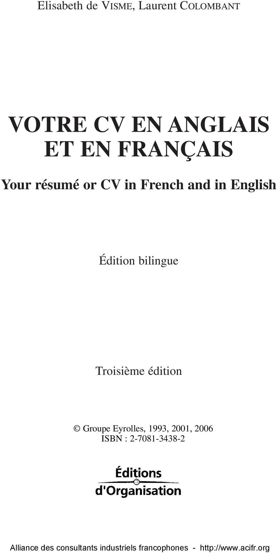 French and in English Édition bilingue
