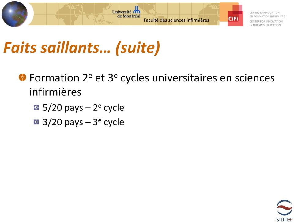 universitaires en sciences