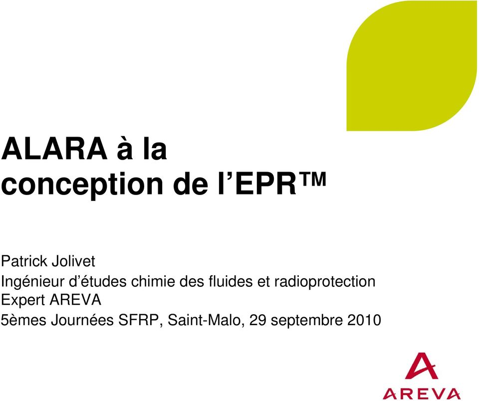fluides et radioprotection Expert AREVA