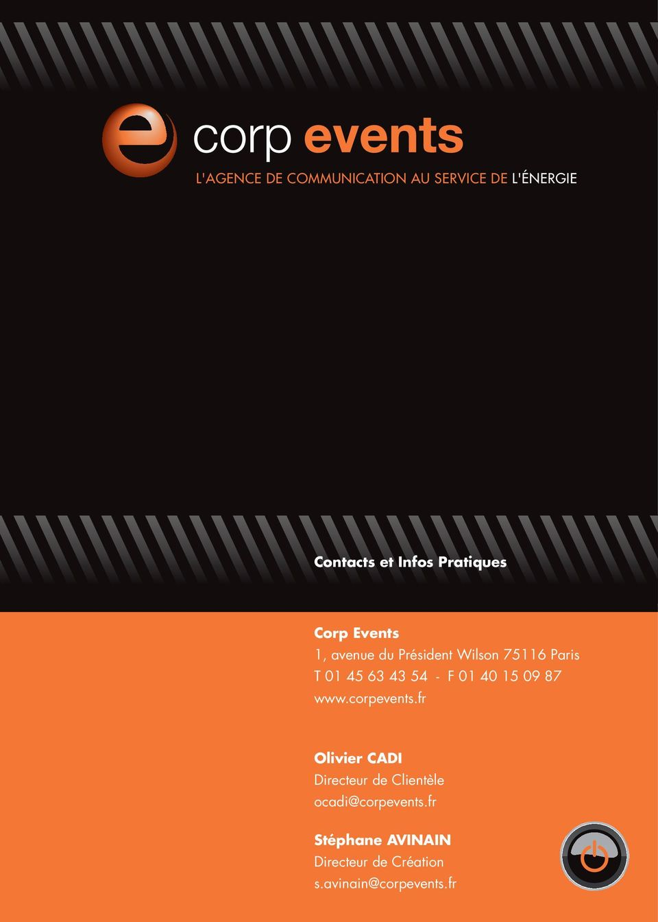 43 54 - F 01 40 15 09 87 www.corpevents.