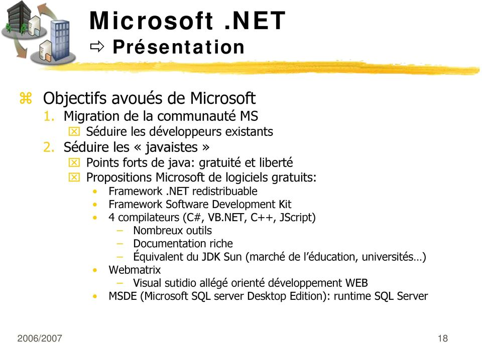 NET redistribuable Framework Software Development Kit 4 compilateurs (C#, VB.