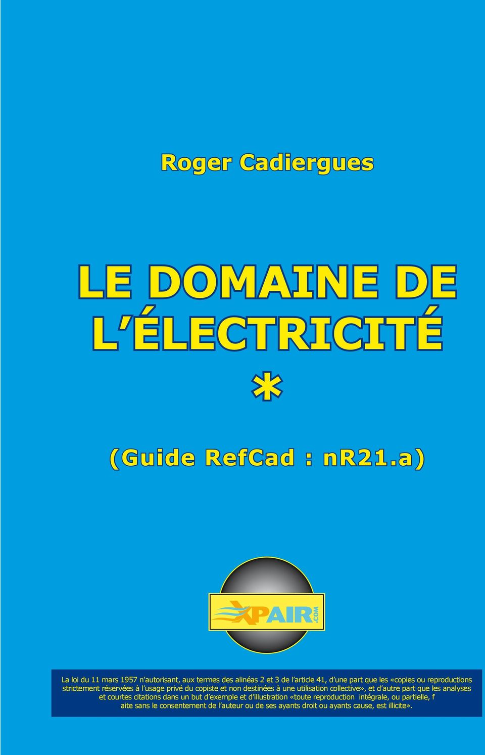 Le domaine de l lectricit pdf for Bases de l electricite
