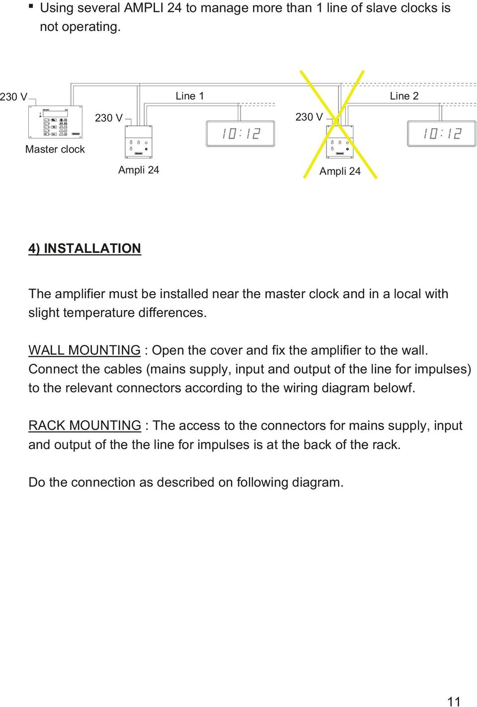ture dif fe ren ces. WALL MOUNTING : Open the co ver and fix the am pli fier to the wall.
