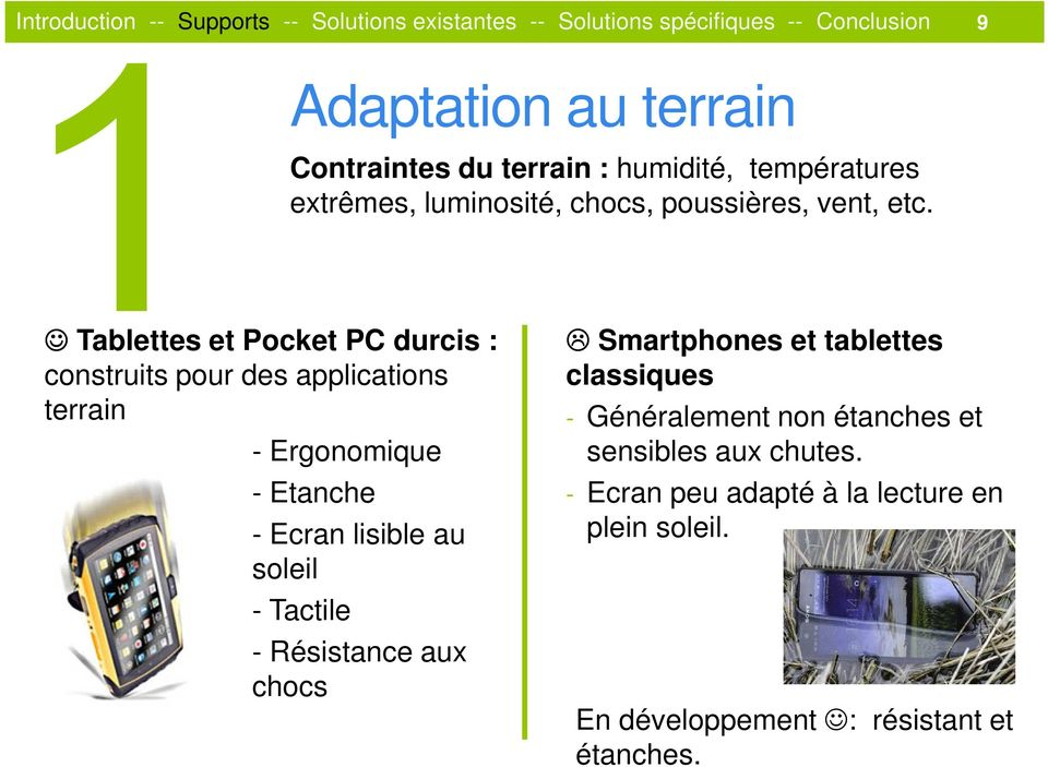 Tablettes et Pocket PC durcis : construits pour des applications terrain - Ergonomique - Etanche - Ecran lisible