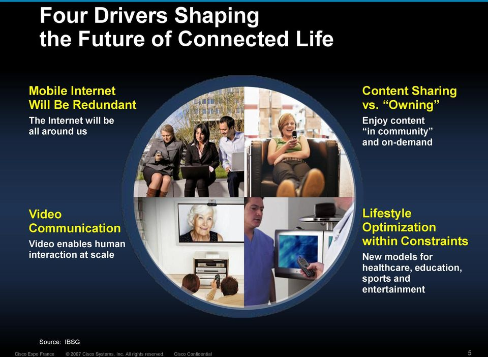 Owning Enjoy content in community and on-demand Video Communication Video enables human