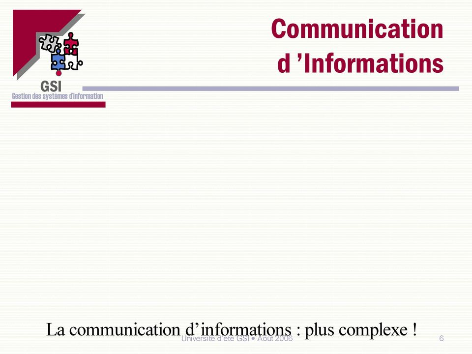 communication d