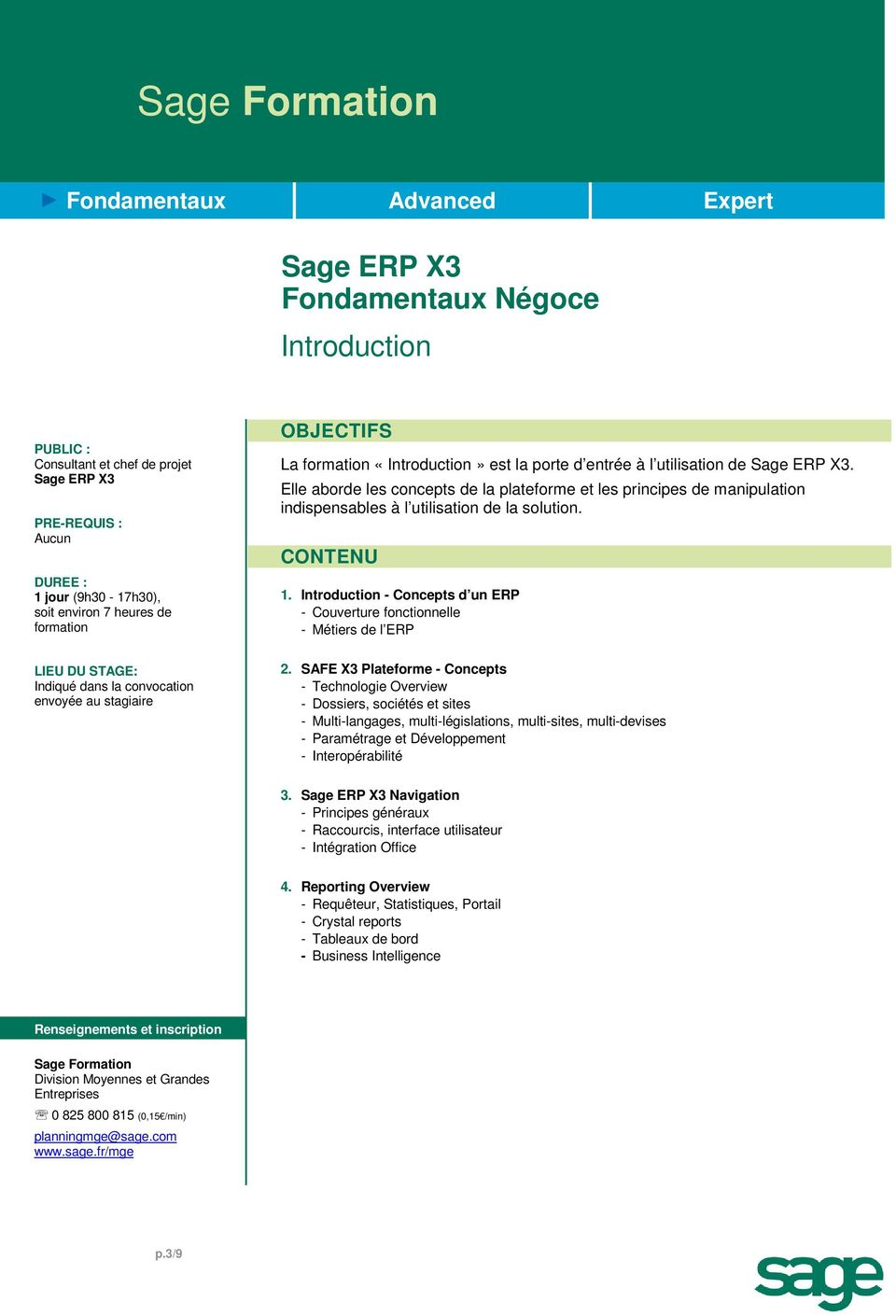 Introduction - Concepts d un ERP - Couverture fonctionnelle - Métiers de l ERP 2.