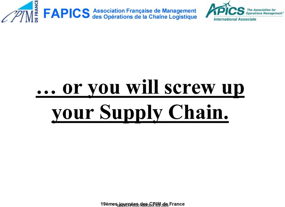 Supply Chain.