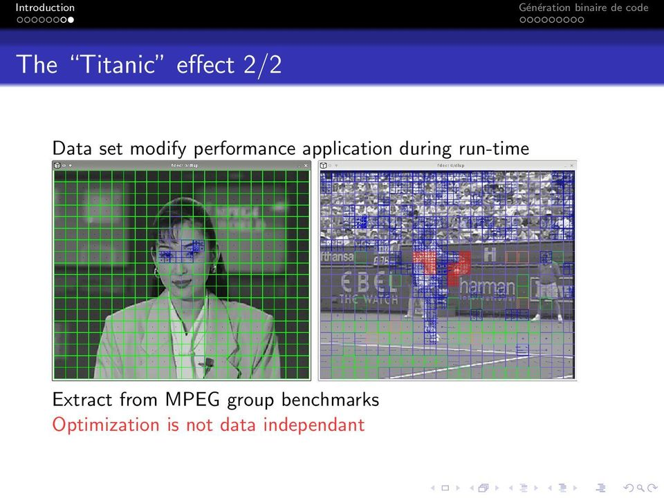 run-time Extract from MPEG group