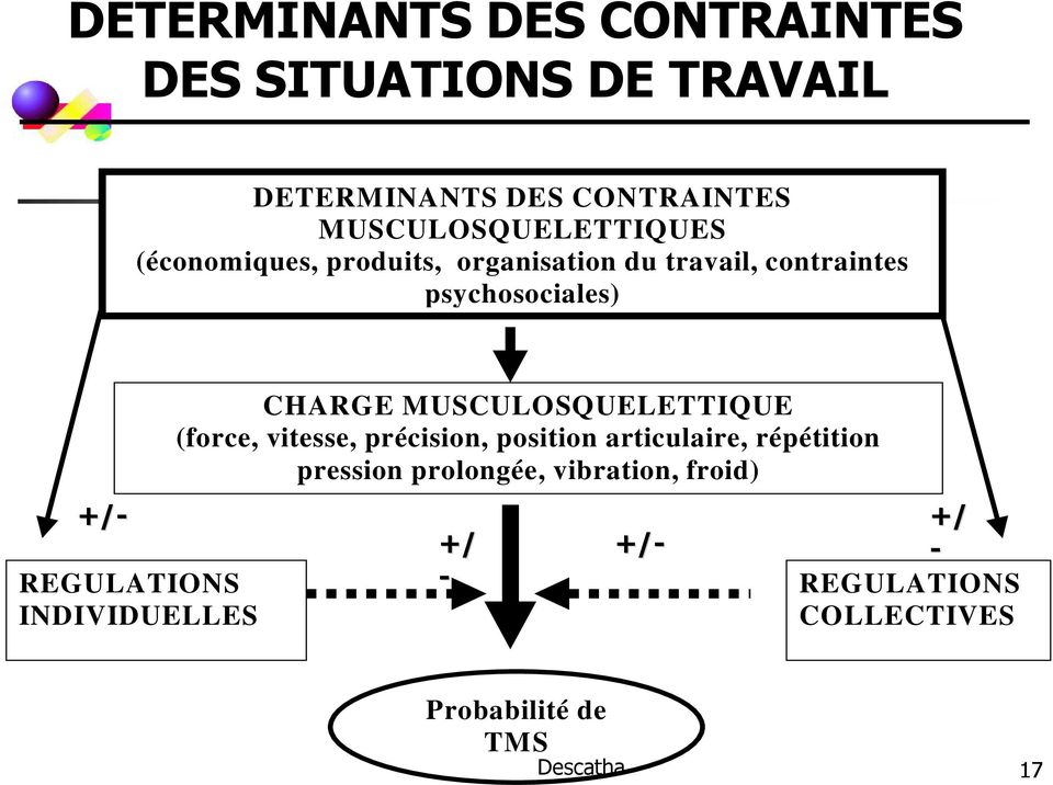 REGULATIONS INDIVIDUELLES CHARGE MUSCULOSQUELETTIQUE (force, vitesse, précision, position articulaire,