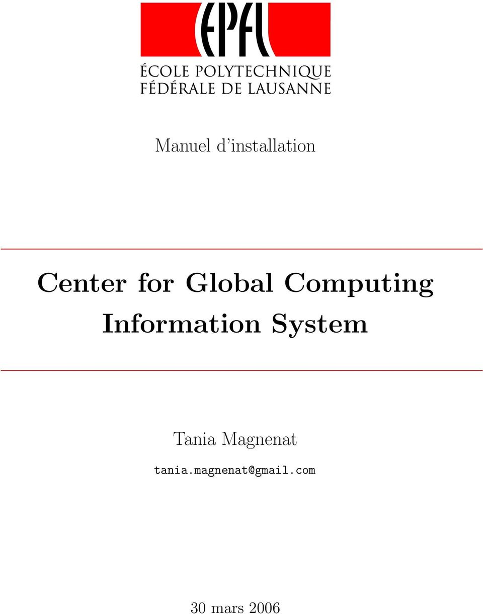 Information System Tania