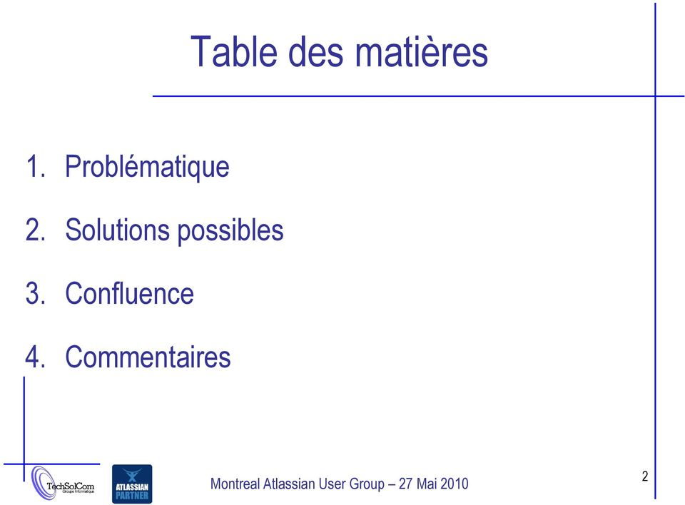 Solutions possibles 3.