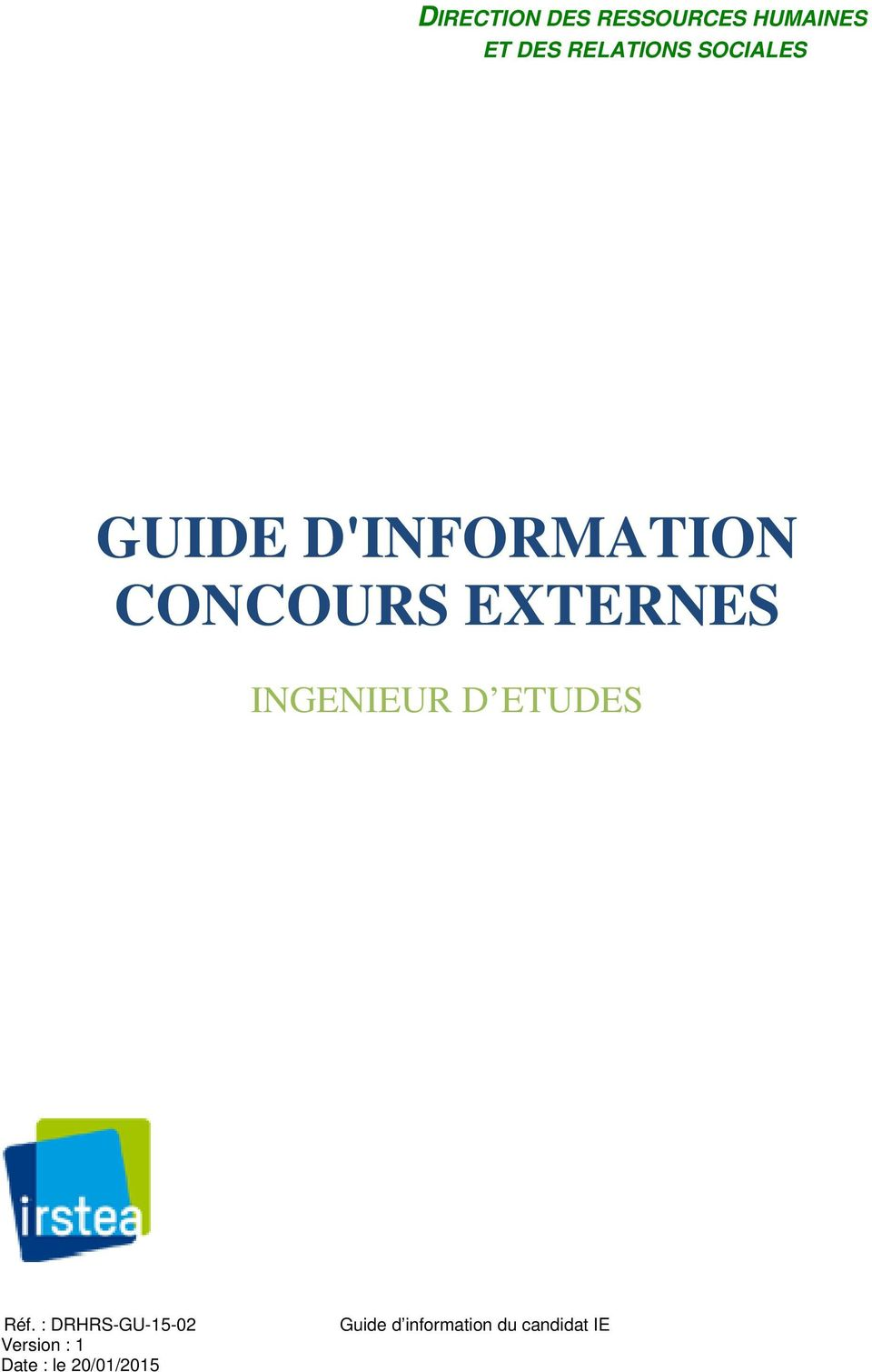 SOCIALES GUIDE D'INFORMATION