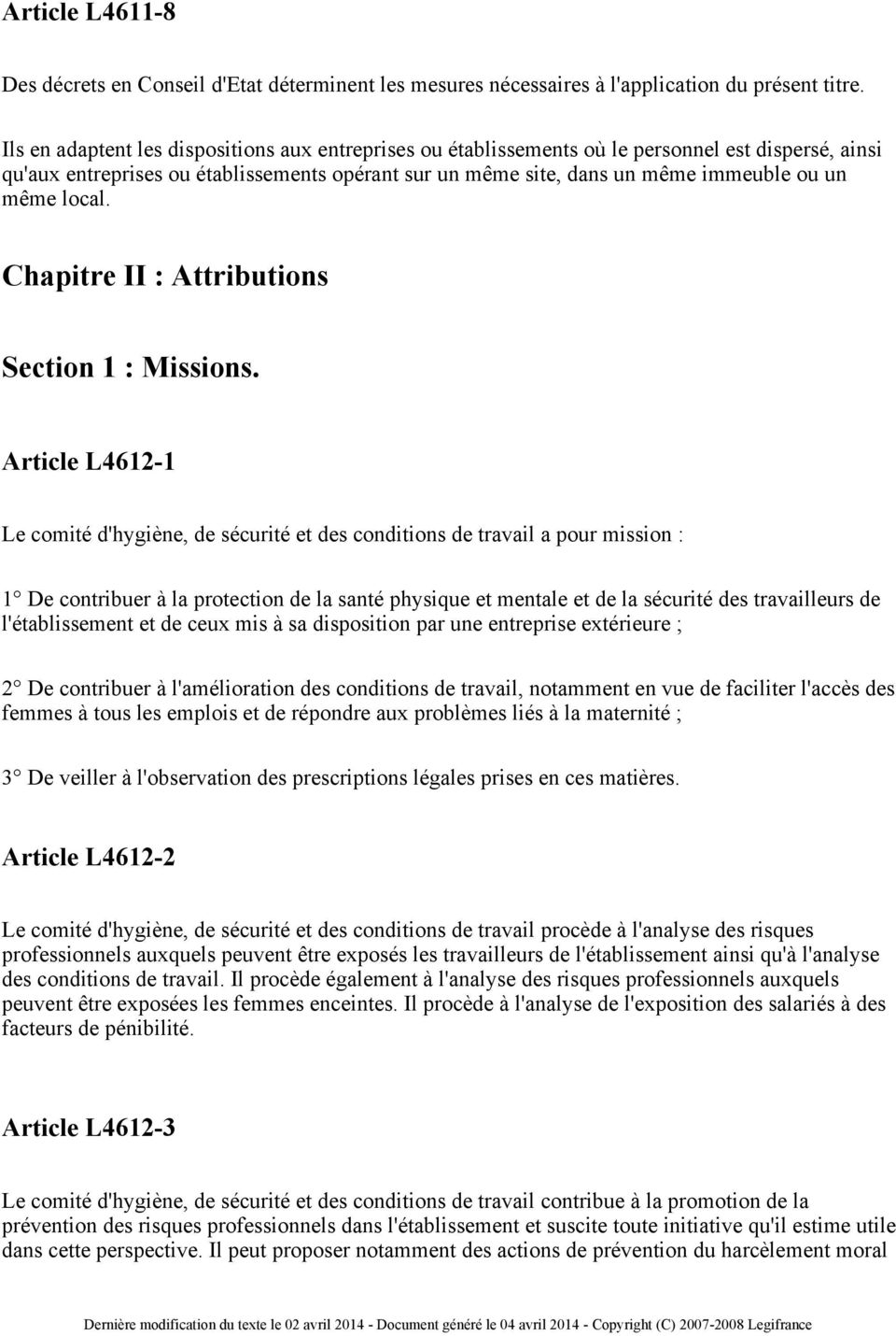 local. Chapitre II: Attributions Section 1: Missions.