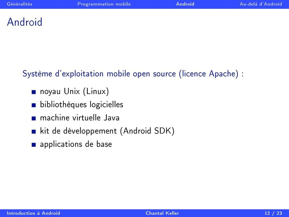 machine virtuelle Java kit de développement (Android SDK)