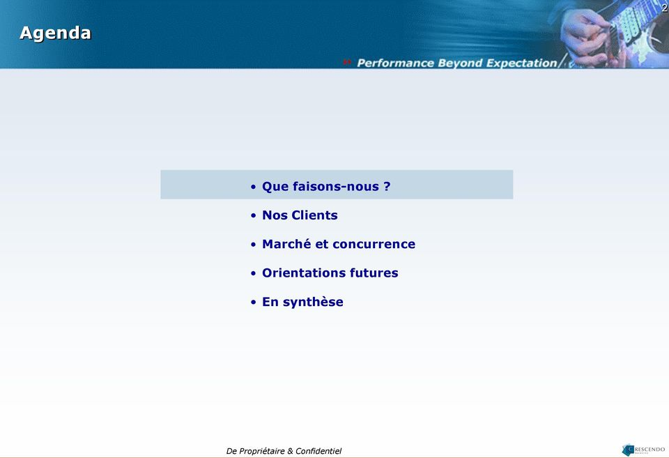 concurrence Orientations