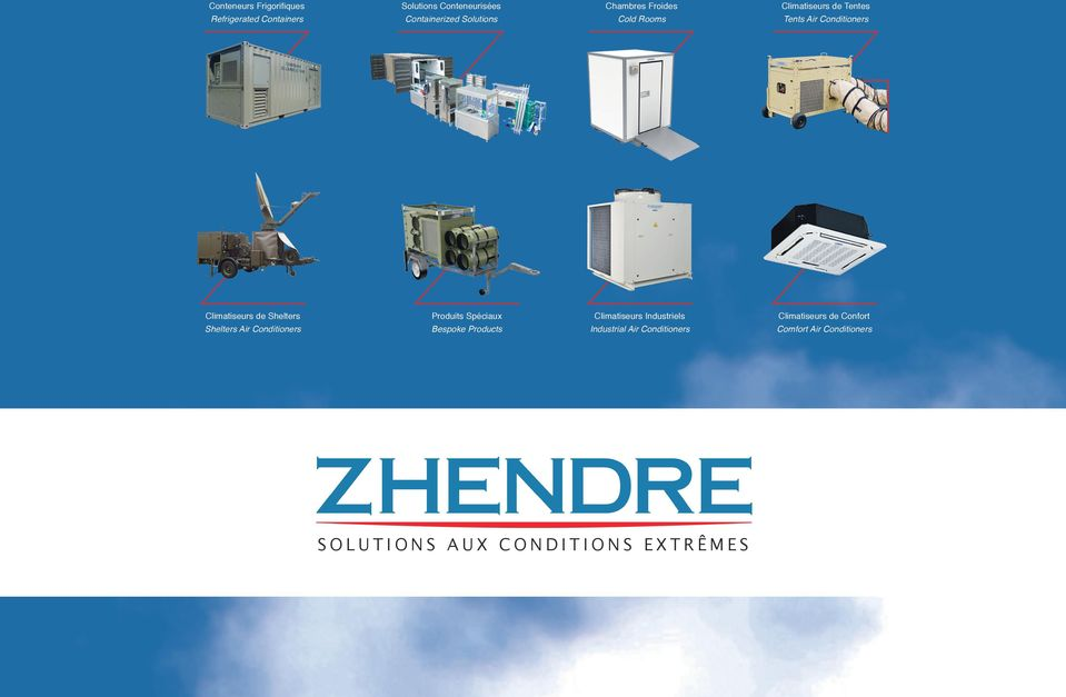 Chambres Froides Cold Rooms Climatiseurs Industriels Industrial Air Conditioners SOLUTIONS AUX