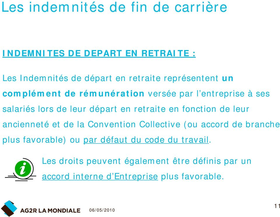 Les Indemnites De Fin De Carriere Pdf