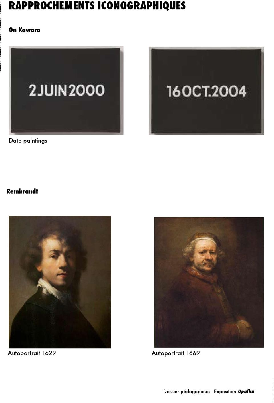 Date paintings Rembrandt