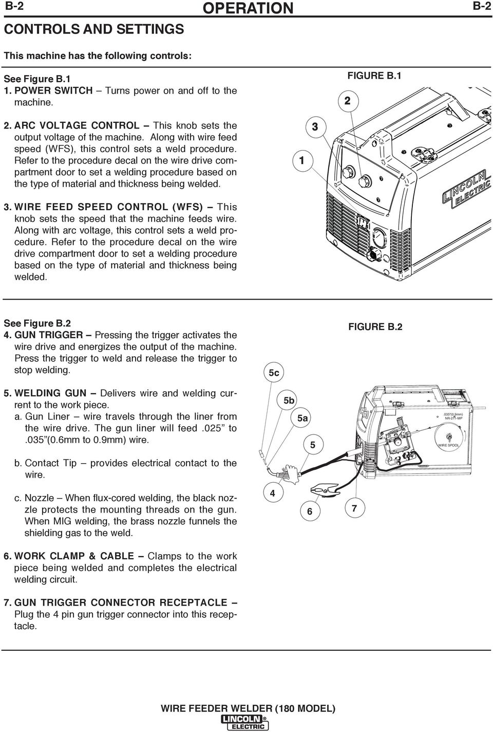 Wire Feeder Welder 180 Model Pdf Welding Circuit Diagram Refer To The Procedure Decal On Drive Compartment Door Set A