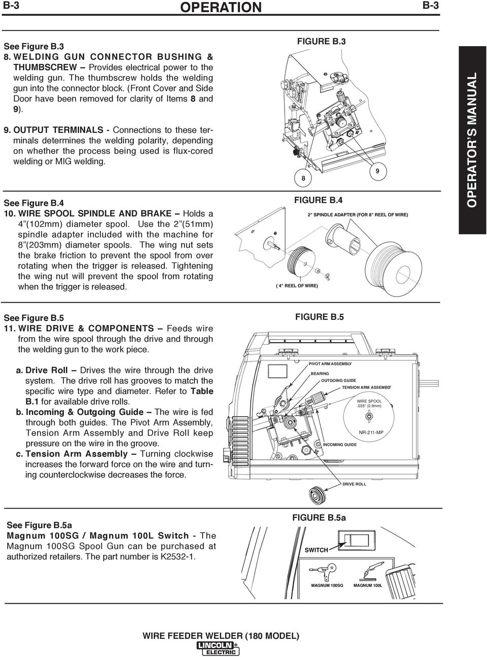 Wire Feeder Welder 180 Model Pdf Mig Welding Equipment Diagram Output Terminals Connections To These Determines The Polarity Depending