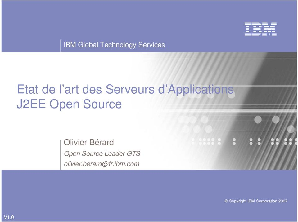 Olivier Bérard Open Source