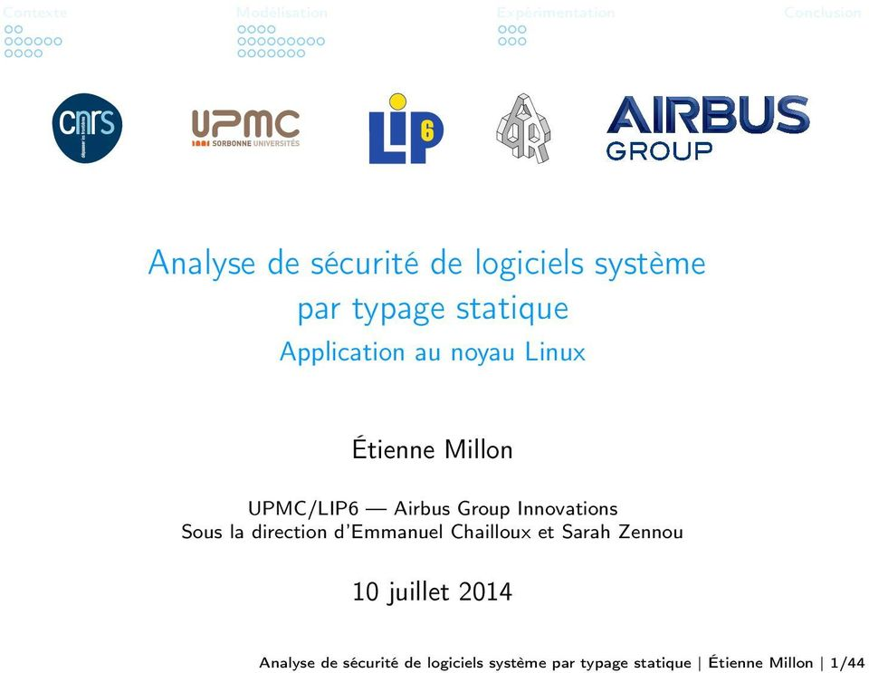 Airbus Group Innovations Sous la direction d Emmanuel Chailloux et Sarah Zennou 10