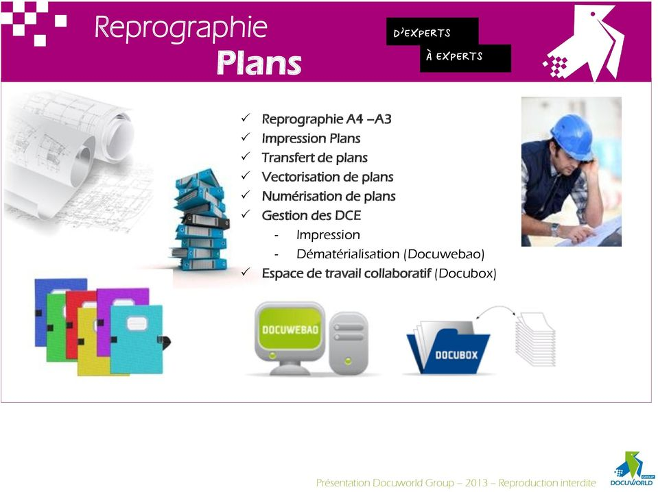 de plans Gestion des DCE - Impression -