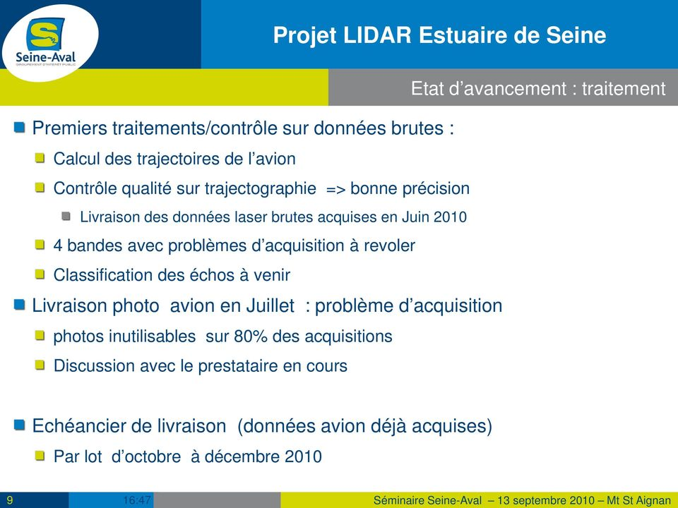acquisition à revoler Classification des échos à venir Livraison photo avion en Juillet : problème d acquisition photos inutilisables sur