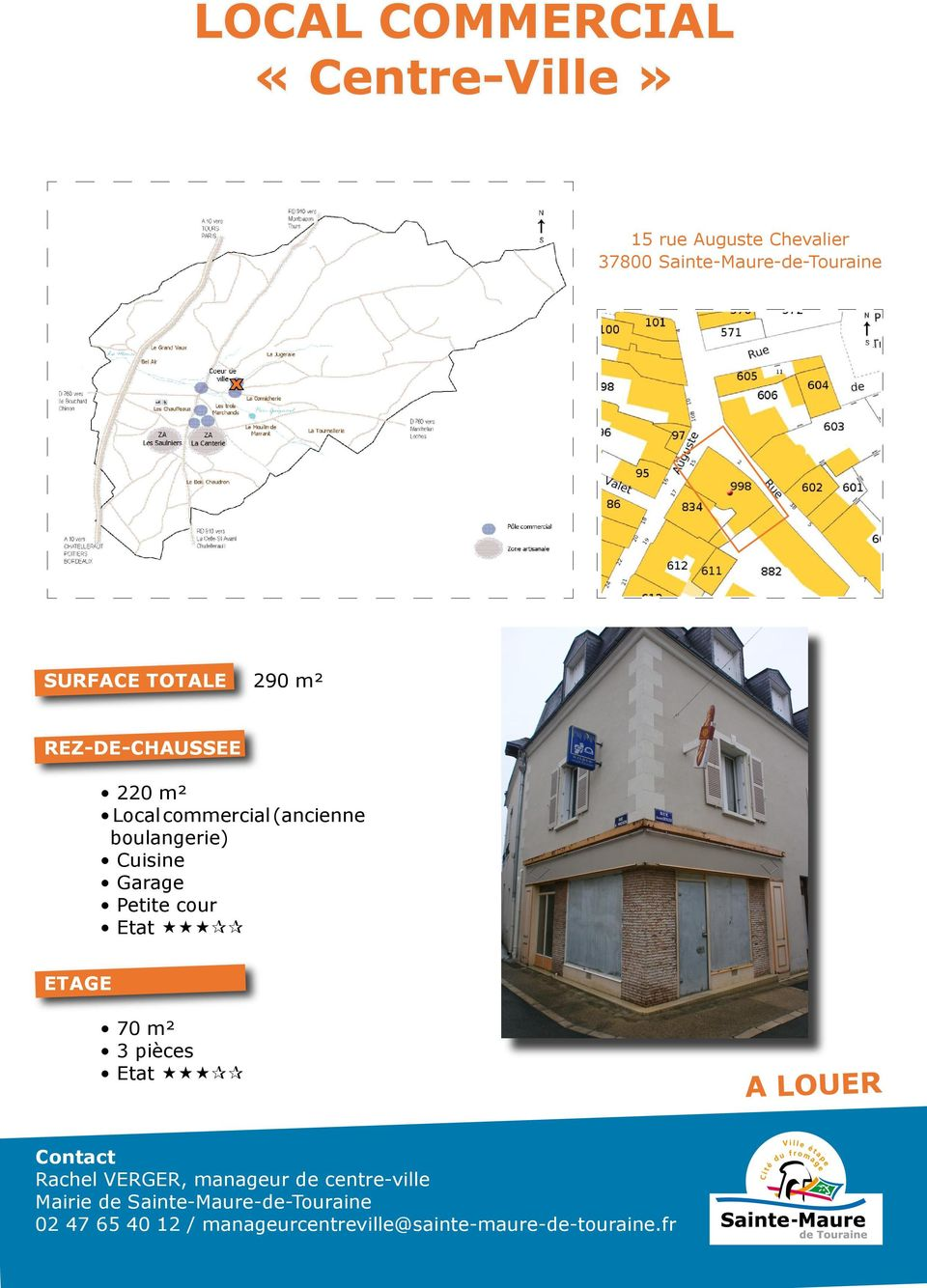 220 m² Local commercial (ancienne boulangerie)