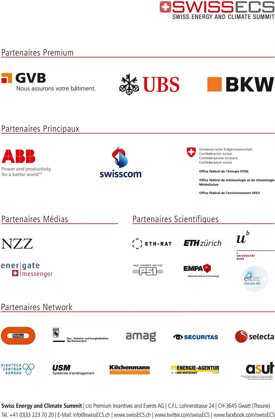 Association Swiss Energy and Climate Summit c/o Premium Incentives and Events AG C.F.L.