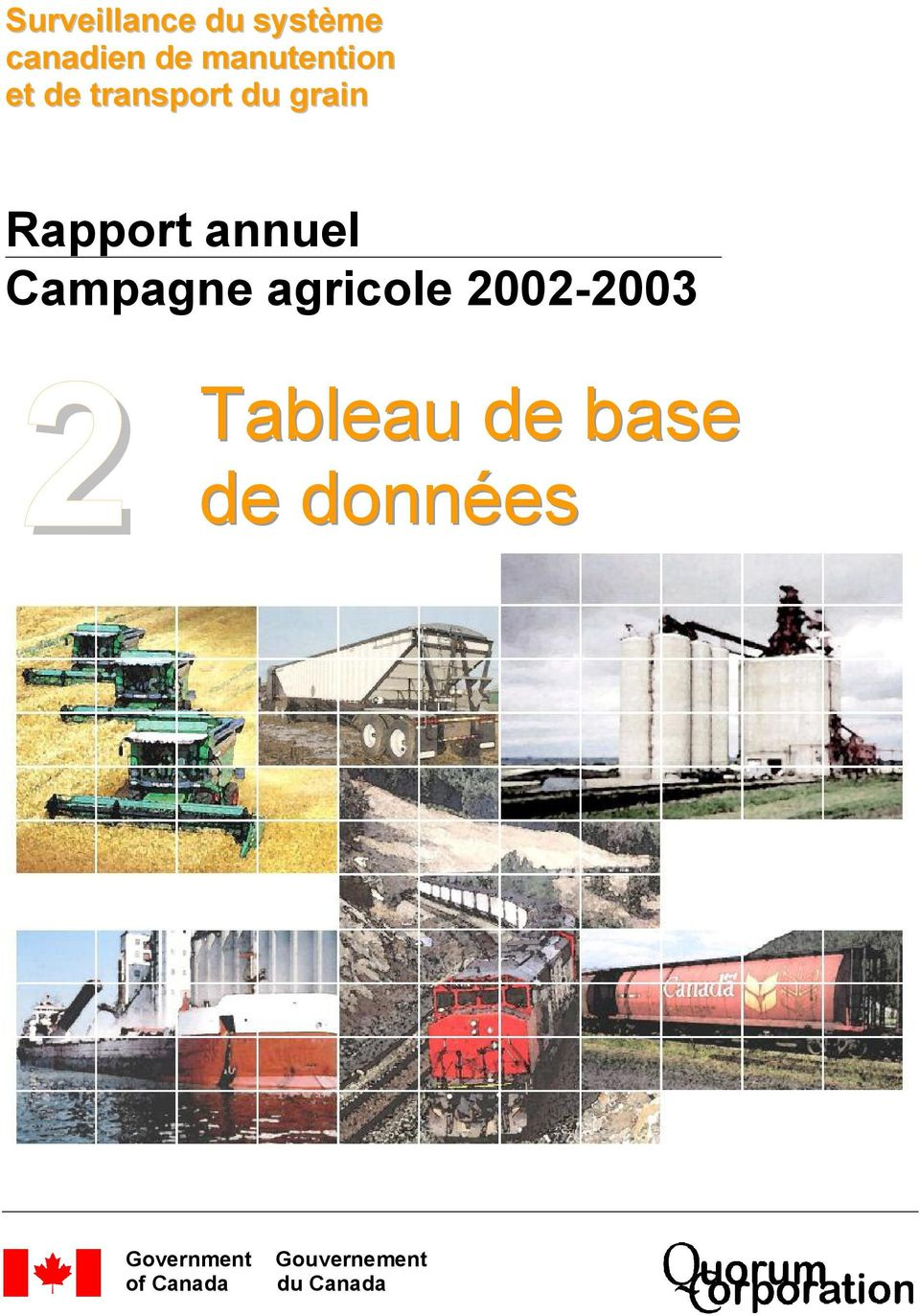 annuel Campagne agricole 2002-2003 2 Tableau
