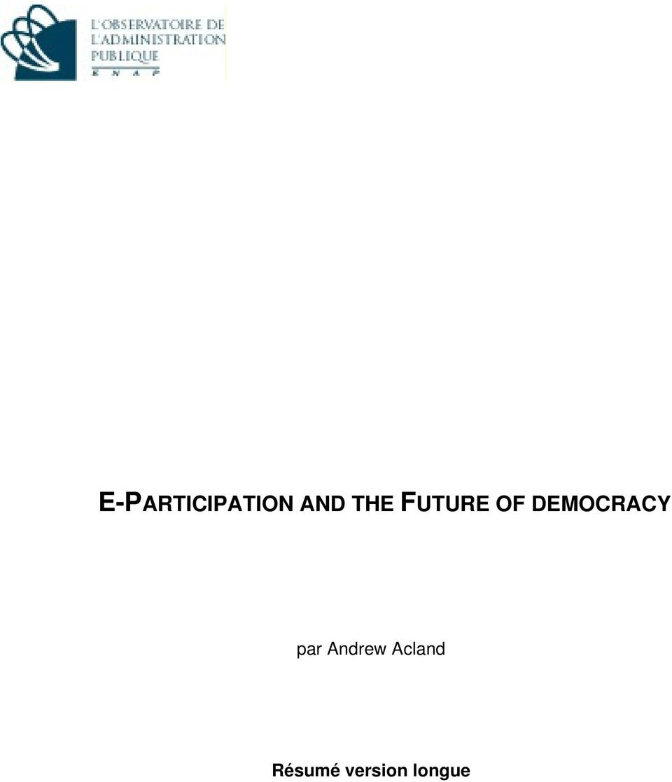 DEMOCRACY par Andrew