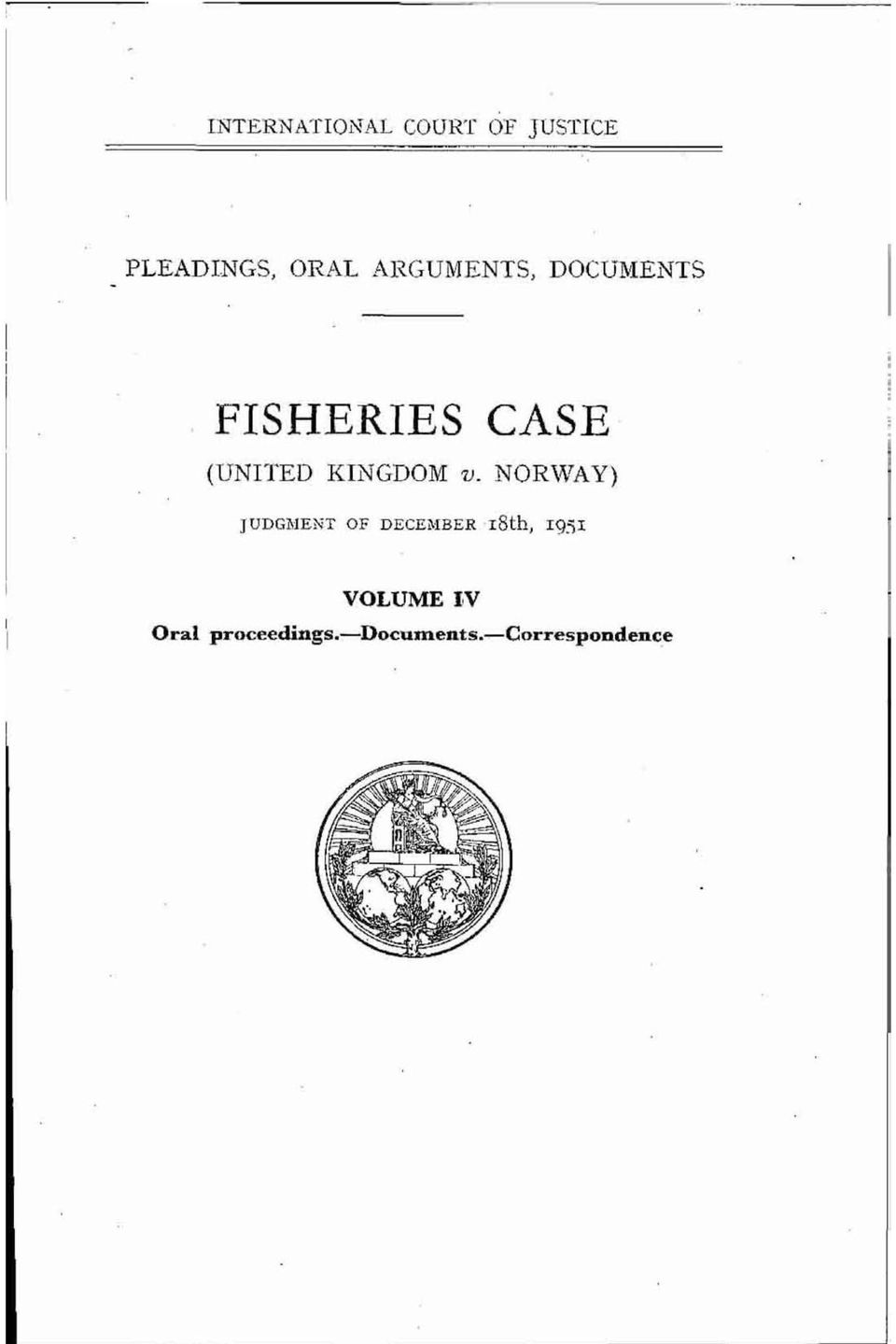 FISHERIES CASE (UNITED KINGDOM v.