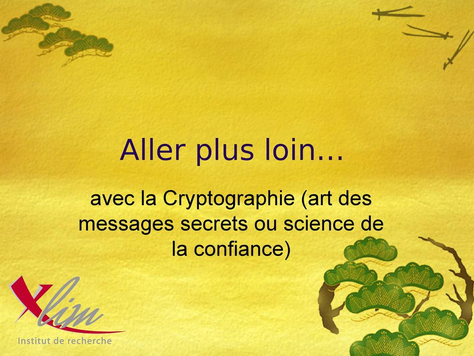 des messages secrets