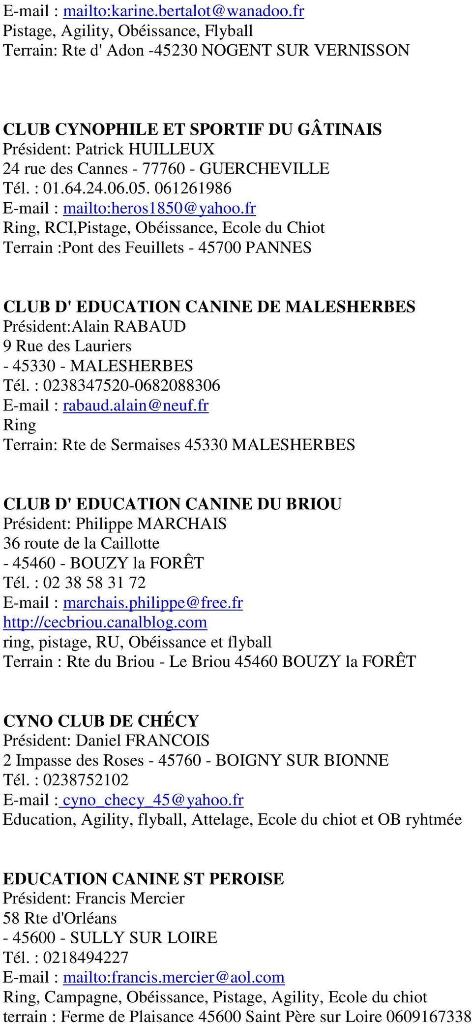 club canin nogent sur vernisson