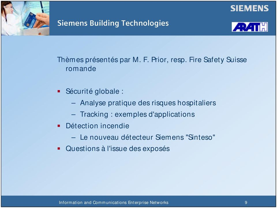 risques hospitaliers Tracking : exemples d'applications Détection