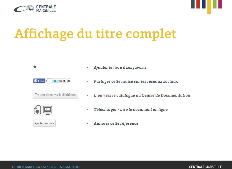Lien vers le catalogue du Centre de Documentation