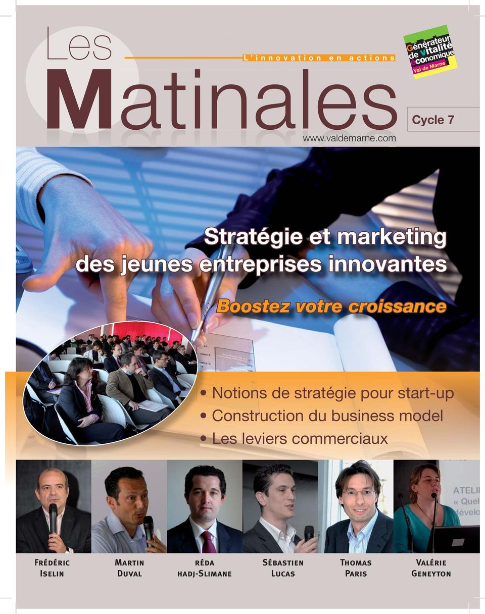 croissance Notions de stratégie pour start-up Construction du business model Les