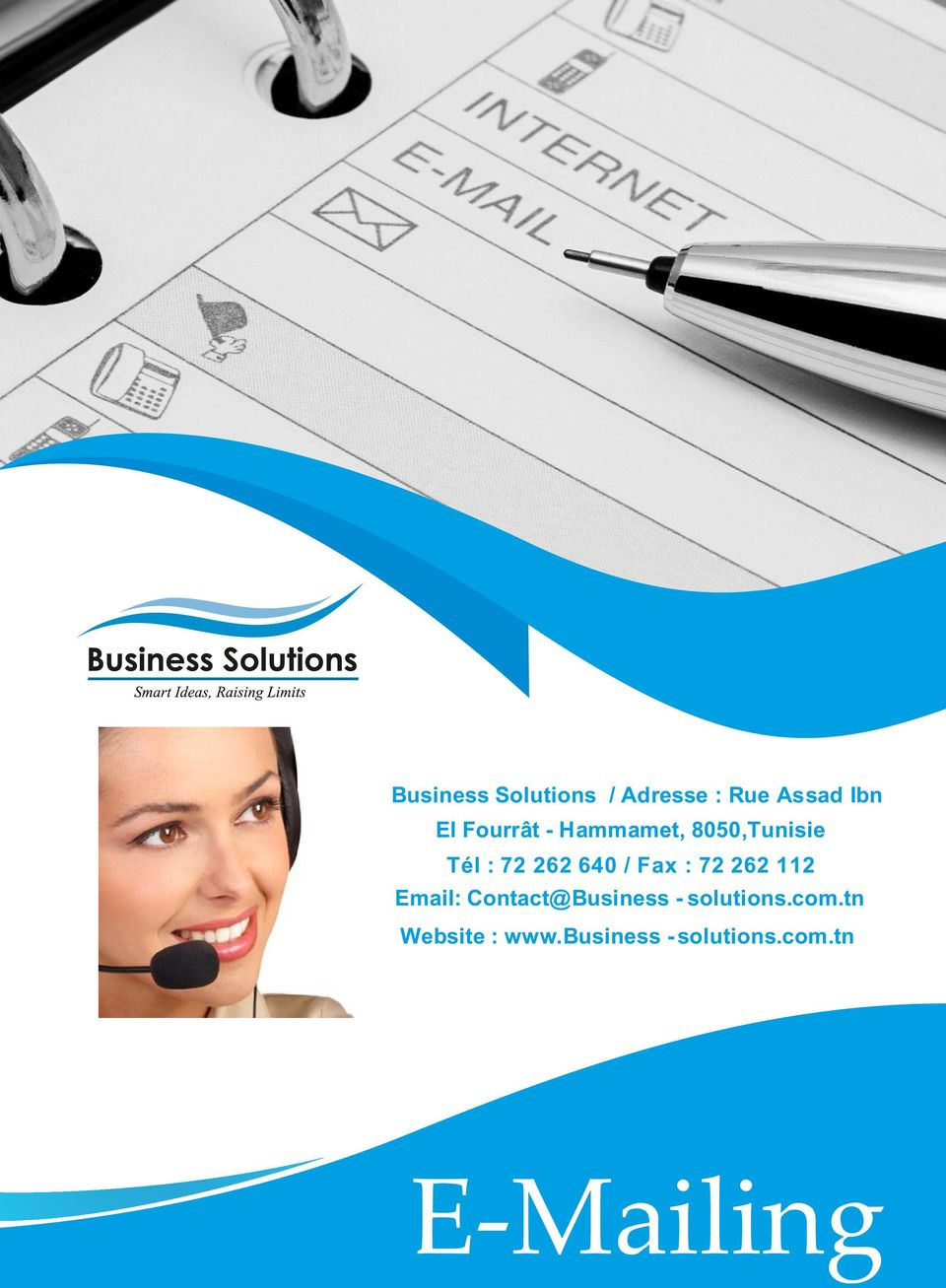 Fax : 72 262 112 Email: Contact@Business - solutions.