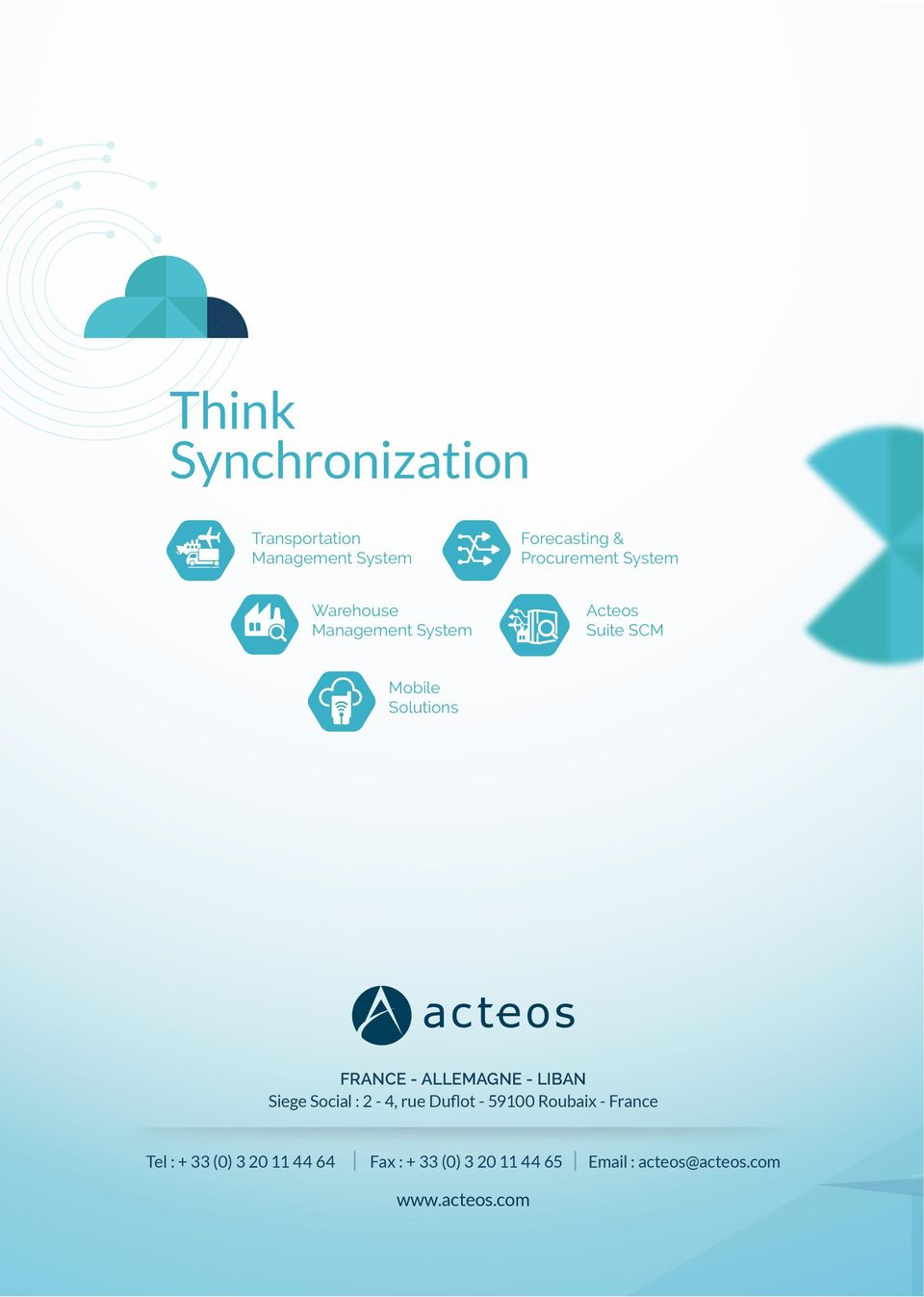 Acteos Suite SCM Mobile Solutions FRANCE -