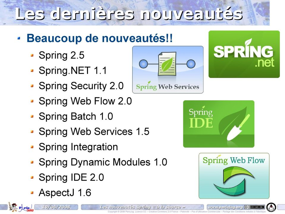 0 Spring Batch 1.0 Spring Web Services 1.