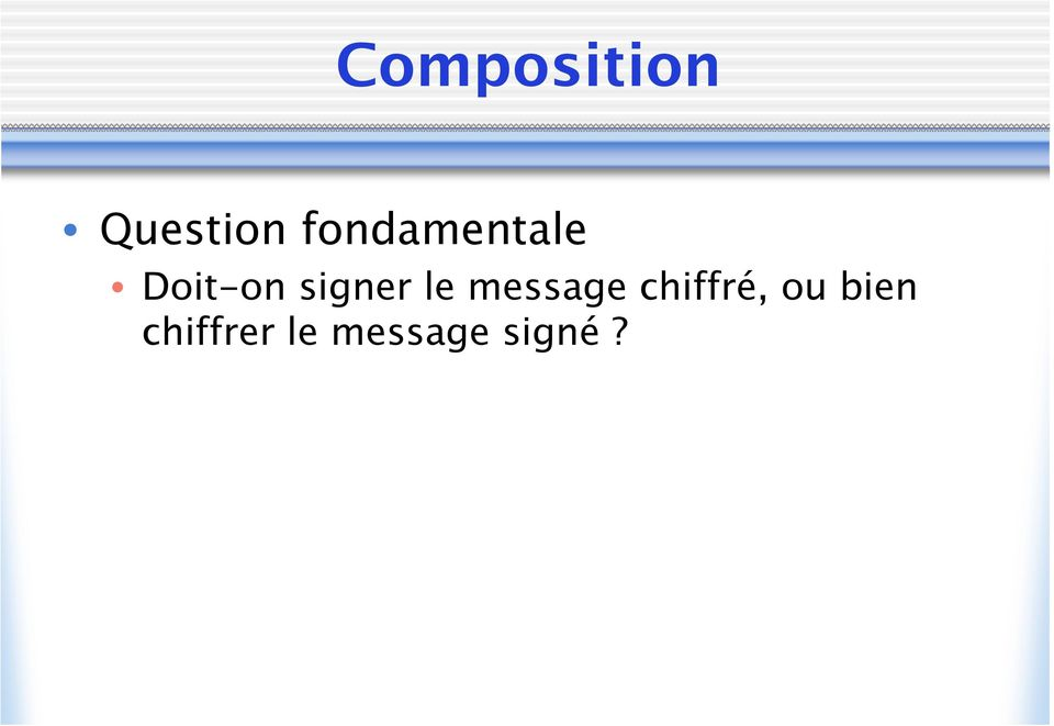 signer le message