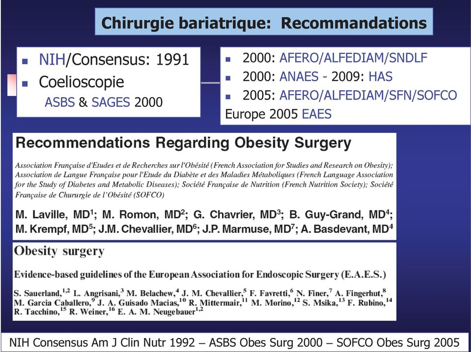 ANAES - 2009: HAS 2005: AFERO/ALFEDIAM/SFN/SOFCO Europe 2005 EAES