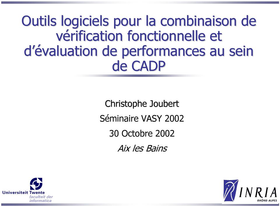 performances au sein de CADP Christophe