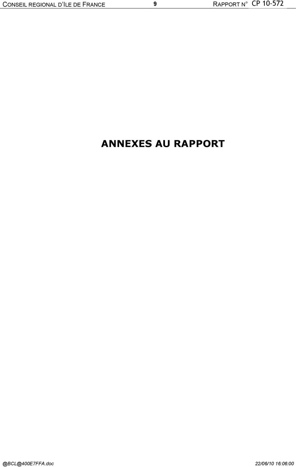 RAPPORT N <%numcx%>