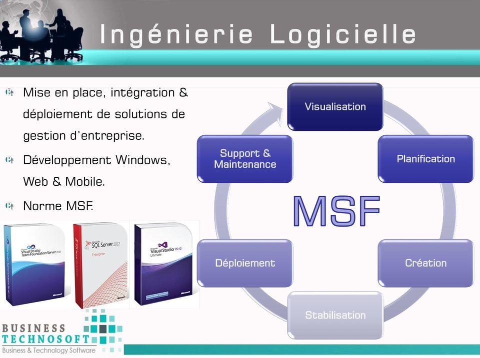 Développement Windows, Web & Mobile. Norme MSF.