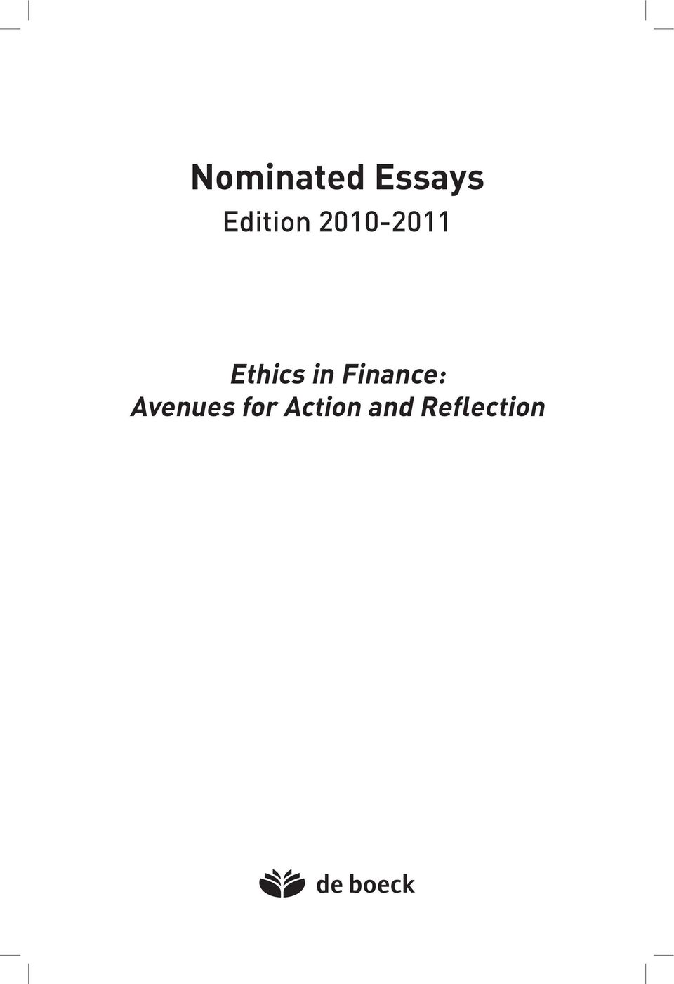 Ethics in Finance: