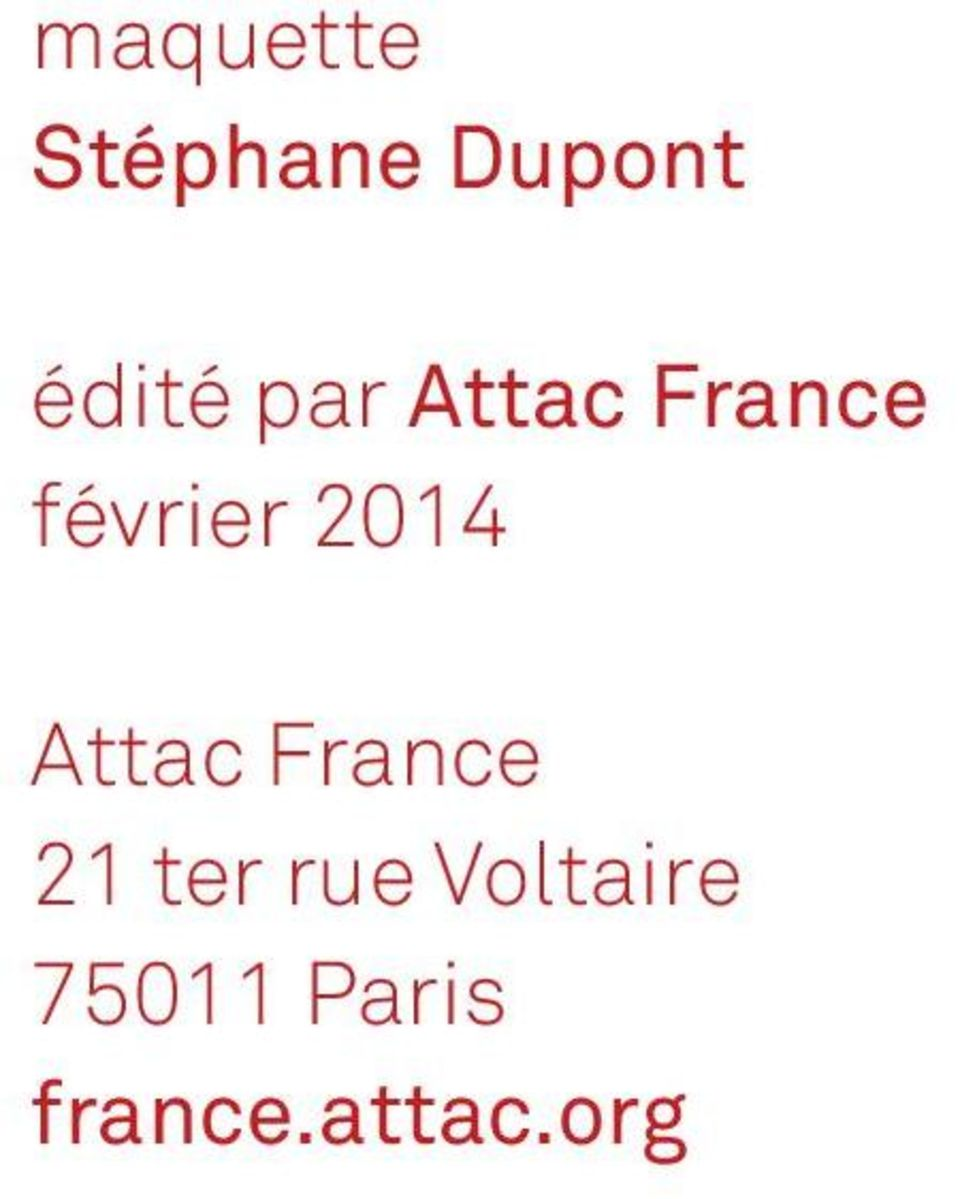 Attac France 21 ter rue