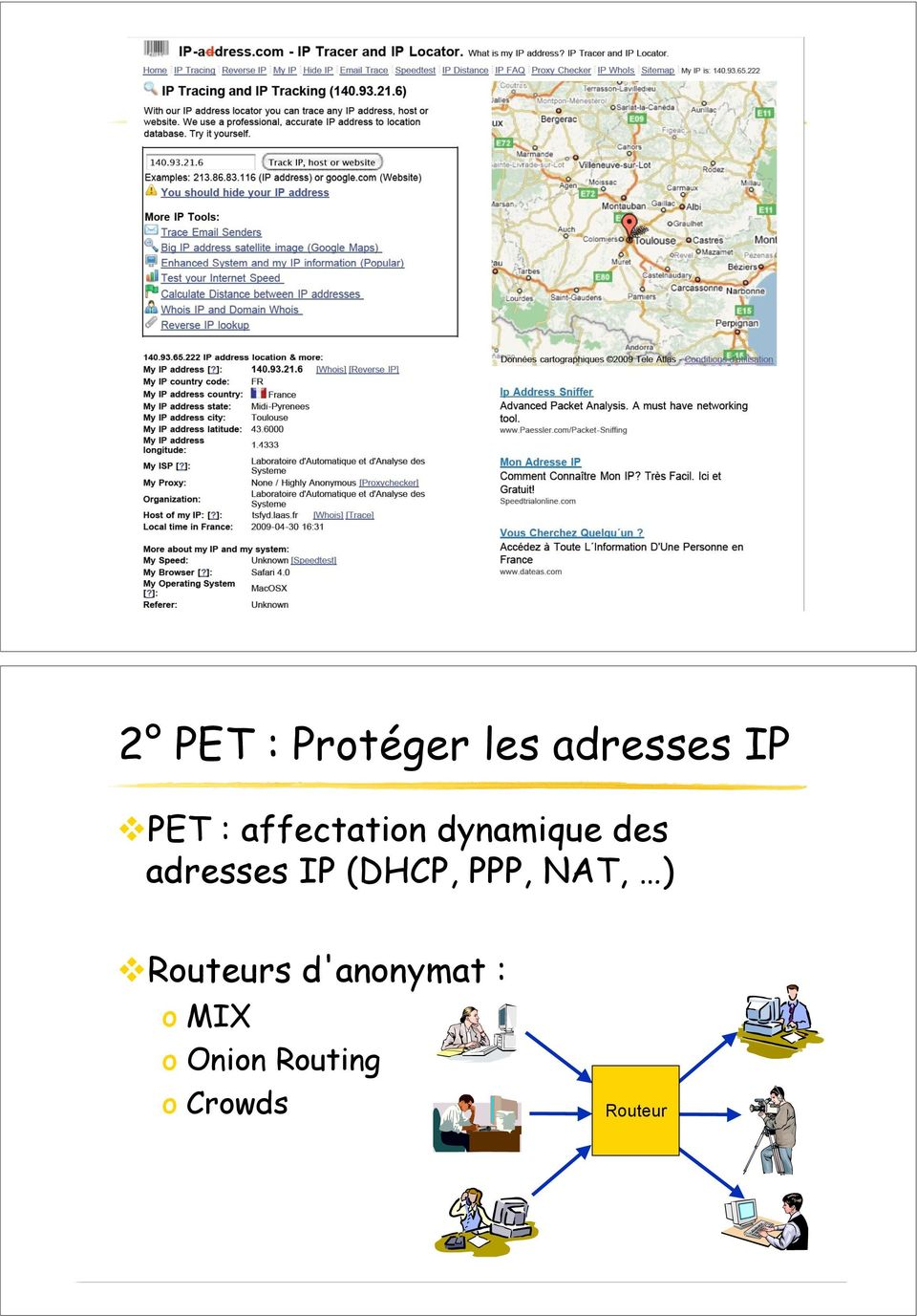 adresses IP (DHCP, PPP, NAT, )!